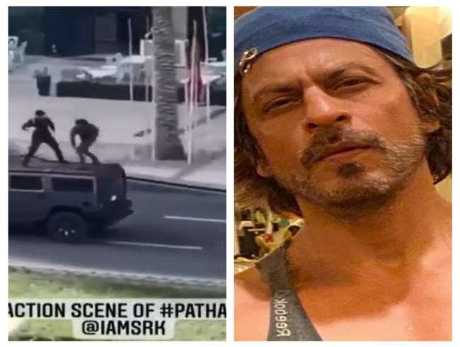 Shahrukh Khan की फिल्म 'पठान' के वीडियोज हुए लीक, कार